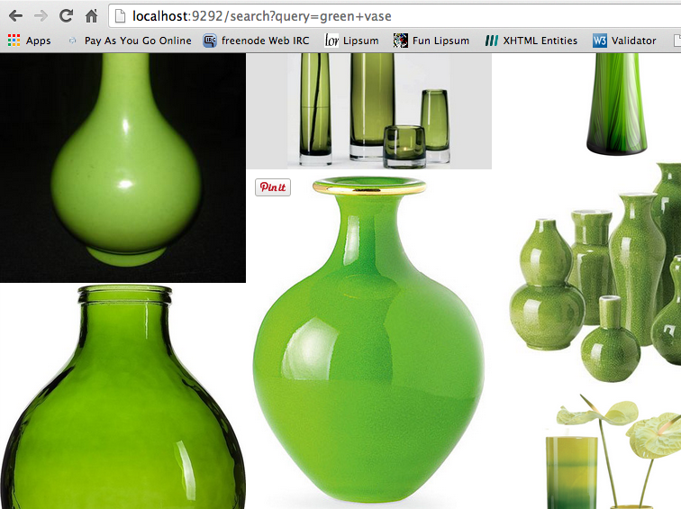 Results for green vase